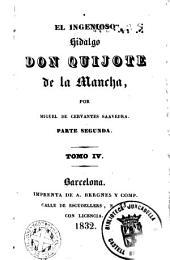 El Ingenioso hidalgo Don Quijote de la Mancha,4: Τόμος 4