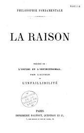 Philosophie fondamentale: la raison