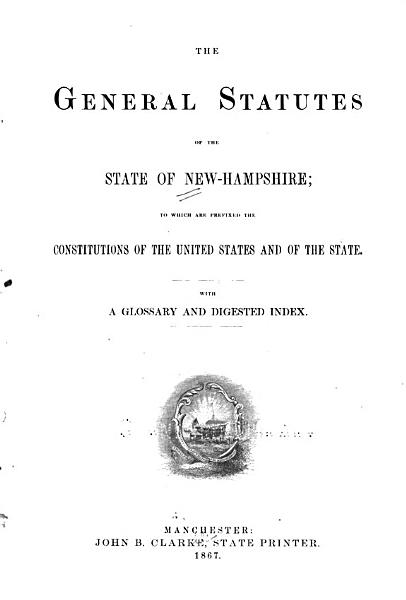 Download The General Statutes of the State of New Hampshire Book