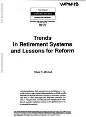 Trends in Retirement Systems and Lessons for Reform