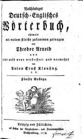 Vollstaendiges Deutsch-Englisches Woerterbuch