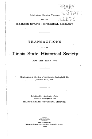 Papers in Illinois History and Transactions for the Year PDF