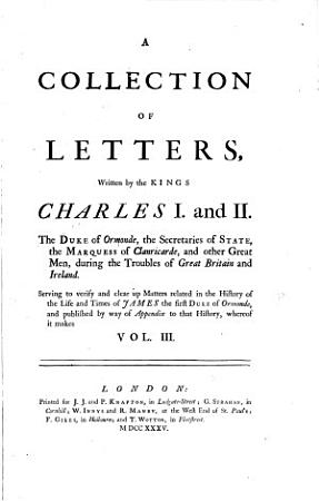 An History of the Life of James Duke of Ormonde from His Birth 1610 to His Death 1688 Etc PDF