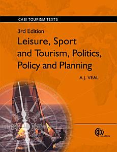 Leisure  Sport and Tourism  Politics  Policy and Planning PDF