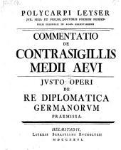Commentatio de contrasigillis medii aevi