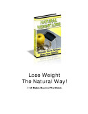 The Most Natural and Healthy Weight Loss Guide + Plus Bonus