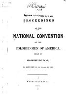 Proceedings of the National Convention of the Colored Men of America PDF