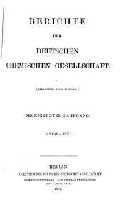 Berichte der Deutschen Chemischen Gesellschaft: Band 16