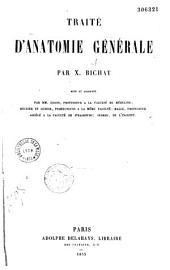 Traité d'anatomie générale
