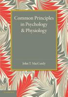 Common Principles in Psychology and Physiology PDF
