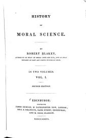History of Moral Science: Volume 1