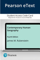 Pearson Etext Contemporary Human Geography Access Card