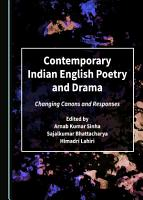 Contemporary Indian English Poetry and Drama PDF