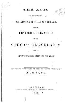Acts to Provide for the Organization of Cities and Villages PDF
