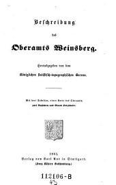 Beschreibung des Oberamts Weinsberg