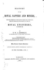 History of the Royal Sappers and Miners: Volume 1