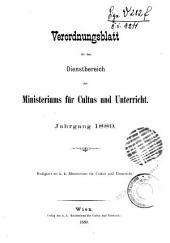 Verordnungsblatt: Band 1889