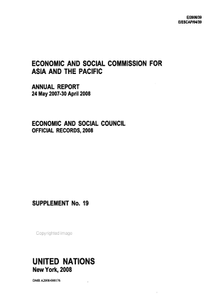 Annual Report of the Economic and Social Commission for Asia and the Pacific PDF