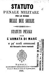 Statuto penale militare per lo regno delle Due Sicilie