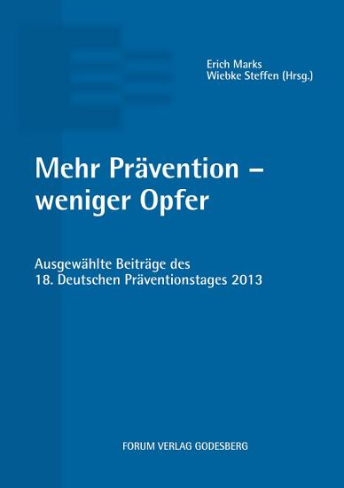 Mehr Pr  vention   weniger Opfer PDF