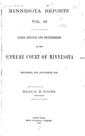 Minnesota Reports: Volume 29