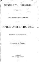 Minnesota Reports: Volume 29