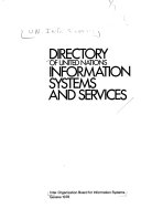 Directory of United Nations Information Systems and Services PDF