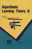 Algorithmic Learning Theory II PDF