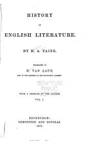 History of English Literature: Volume 1