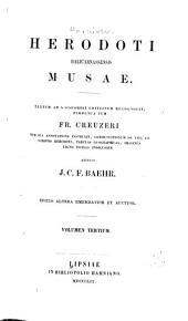 Herodoti Musae: Volume 3