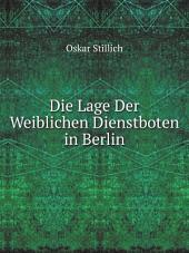 Die Lage Der Weiblichen Dienstboten in Berlin