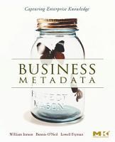 Business Metadata  Capturing Enterprise Knowledge PDF