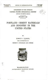 Portland Cement Materials and Industry in the United States: Volume 522