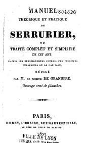 Manuel théorique et pratique du serrurier
