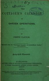 The cottager's calendar of garden operations