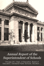 Annual Report of the Superintendent of Schools: Volume 60