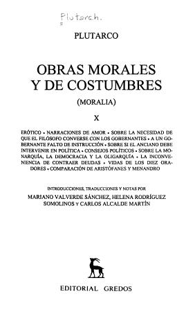 Obras morales y de costumbres PDF