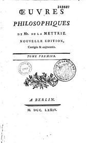 Oeuvres philosophique de Mr. de La Mettrie