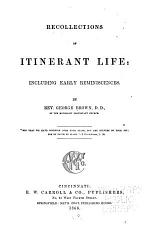 Recollections of Itinerant Life