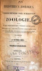 Bibliotheca zoologica PDF