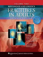 Rockwood and Green s Fractures in Adults PDF