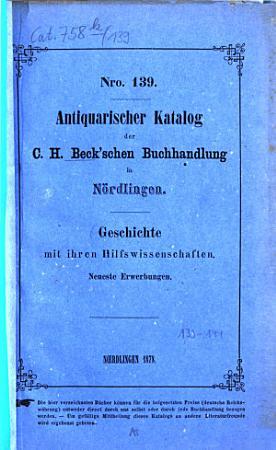 Antiquarischer Katalog der C  H  Beck schen Buchhandlung in N  rdlingen PDF