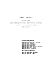 Ruby Ridge: Report of the Subcommittee on Terrorism, Technology and Government Information of the Senate Committee on the Judiciary