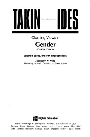 Taking Sides  Clashing Views in Gender PDF