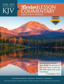 KJV Standard Lesson Commentary r  Large Print Edition 2020 2021 Book