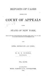 Reports of Cases Decided in the Court of Appeals of the State of New York: Volume 93