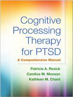 Cognitive Processing Therapy for PTSD PDF