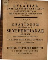 De Lusatiae cum archipraesulatu Parthenopolitano nexu clientelari commentitio