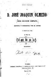 Obras poéticas de d. José Joaquin Olmedo: unica coleccion completa