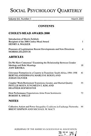 Social Psychology Quarterly PDF